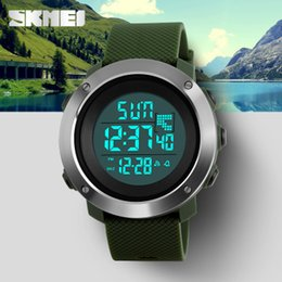 Orologi militari skmei online-Skmei Men's Fashion Sport Watches Uomo Digital LED Electronic Clock Uomo Military Watch impermeabile da donna Relogio Masculino
