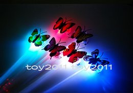 Wholesale Butterfly Decoration Hair - 2017 LED Butterfly Hair Braid Glow Flashing Hairpin Colorful Light up Hair Accessories For Christmas Birthday Decoration