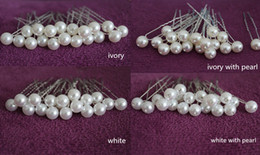 Wholesale Silver Bobby Hair Pins - 200 PCS IVORY  WHITE PEARL WEDDING BRIDAL BRIDE PROM HAIR BOBBY PIN Headress WEDDING Accessories Hairpins