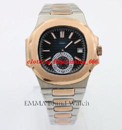 Wholesale Metal Clock Dials - Luxury Men Watch Men's P-P Luxury Brand Watch Gents Two Tone Steel Metal Bracelet White Dial 40mm Automatic Original Clasp Clock