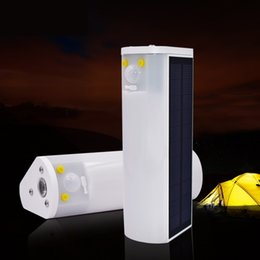 Wholesale Usb Emergency Flashlight - LED solar Lights With USB charging flashlight torch light potable emergency camping lighting Built-in powerful magnets