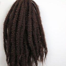 Extensiones de cabello color 33 online-Afro Kinky Marley Braid Hair 20inch 100g # 33 / Dark Auburn Brown 100% Kanekalon Trenzas sintéticas trenzan las extensiones de cabello 7 colores