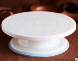 Materiais plásticos de qualidade alimentar on-line-Artes Exposição bakeware Bolo Decoração giratória giratória plataforma giratória food-grade material plástico leve e resistente