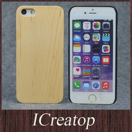 Wholesale Iphone 4s Covers Wood - Natural Genuine Maple wood cell phone cases for iPhone4 4s 5 5s 5c Solid Hand-Carved Wood wooden case cover hard back case freeshipping