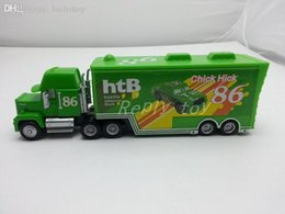 Wholesale Cars Toys 86 Truck - Wholesale-Pixar Cars Mack Uncle No.86 Chick Hicks Racer's Truck Metal Diecast Toy Car 1:55 Loose Brand New In Stock & Free Shipping
