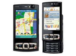 2019 telefone mikro-sim-karten 5MP Slider entsperrt Handy-Kamera-SIM-Karte 2,8 Zoll 8 GB N95 Smartphone-Handy mit 3G WIFI GPS Bluetooth günstig telefone mikro-sim-karten