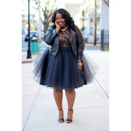 Taille haute, plus la taille des jupes de haute qualité 2016 nouvelle arrivée au genou plis doux Tulle été style jupes pas cher ? partir de fabricateur