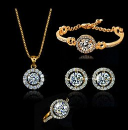 Wholesale China Wholesale Jewelry Imports - crystal earring,bracelet necklace and ring set, popular imported zircon necklace set, party jewelry set LG157-262