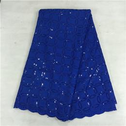 Wholesale Lace Fabric Swiss - (5yards pcs)BC21-7 Good selling high cotton cloth windmill pattern african lace fabric with sequins,Swiss voile lace for dress