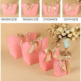 Wholesale Clothing Gift Packaging - Boutique Clothes Gift Packaging Bag cardboard Packing Bags Square Bottom Bread Food clothing Packaging Bag Shopping Bags