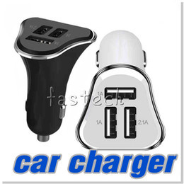 Wholesale Ipad Usb Lead - For iphone 6S Newest 5V 2.1A 1A USB Car Charger Led Light 3 Ports USB Universal Mini Adapter for iphone ipad Samsung Galaxy S5 S6 Note 3