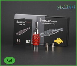Wholesale Original Items - e cigarette Original Pineapple Design Atomizer coil Dual Coil Ecig vaporizer Patented Items With Replaceable Coil For ego t Battery
