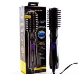 Wholesale Hair Styling Brush Rotating - 2015 Ifiniti Pro Hot Air Spin Hair Styler Brush Ceramic Hair Brushes Electric 2 Inch Rotating Hair Styling Tools Comb