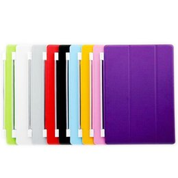 Wholesale Magnetic Front Smart Cover - Magnetic Leather Wake Sleep Front Smart Cover Stand Case for iPad Air Air2 4 iPad Mini Mini2