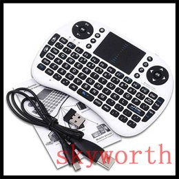 Wholesale Tablet Key - Mini i8 Rii 2.4G Wireless Game Keyboard PC Remote Controls Portable With Touchpad Keyboards 92 Keys for Andriod TV Box Tablet PC
