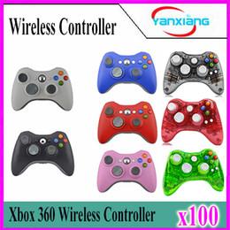 Wholesale Game Controller Joystick Xbox - 100pcs Xbox 360 2.4GHz Wireless Game Remote Controller Wireless Gamepad Joystick for Xbox360 Controller YX-360-01