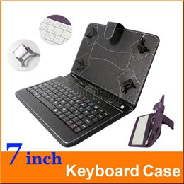 Wholesale Cheapest Keyboard Covers - Cheapest Micro USB Keyboard Case PU Leather Tablet Stand Cover Cases Foldable Case For 7 inch Android Tablet PC Q88 Q8 A33 colorful 10pcs
