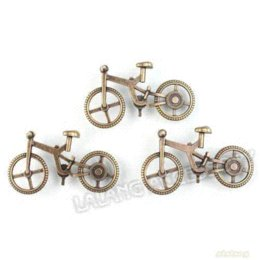 Wholesale Brass Coin Charms - Free Shipping 30pcs lot Promotion!! Antique Brass Metal Bicycle Alloy Pendants For Charm Jewelry Making 51*28*3mm 142265