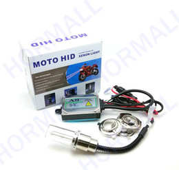 Wholesale Hid High Beams - MOTOR HID KIT motorcycle hid conversion kit lights EAST INSTALL BI-XENON H6 high and low beam xenon