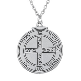 Wholesale Rhinestone Seals - 1pcs Talisman for Good Luck Key of Solomon Pentacle Seal necklace
