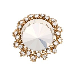 Wholesale Small Metal Hooks - 2017 Hot wholesale 12pcs lot Big Crystal Small Flower Gold Plated 18mm Metal Snap Button Charm Rhinestone Styles Button Ginger Snaps Jewelry