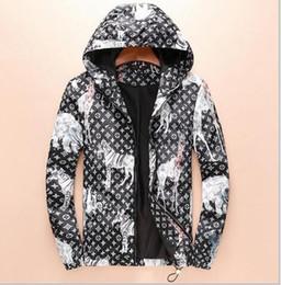 Wholesale Coat Brands For Men - Hot designer Brand jacket windbreaker men Luxury fashion giraffe rhinoceros elephant print Thin mens jackets Palace streetwear coats for men