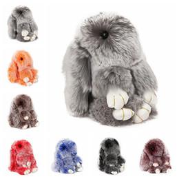 Argentina Real Rex Conejo, conejo, llavero, piel de conejo, Pom Pom, llavero para mujer, baratija, conejo, juguete, muñeca, bolso, llavero, llavero, monstruo, llavero Suministro
