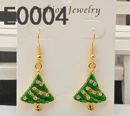 Wholesale Oil Environmental - 2017 manufacturers wholesale ear jewelry Christmas gifts environmental protection alloy drops of oil ornaments European and American Christm