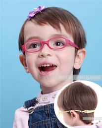 Wholesale Safe Cord - Babys Glasses Frame with Strap Regular Lenses Size 40 15, No Screw Safe Bendable, Boys Girls Infant Eyeglasses with Cord