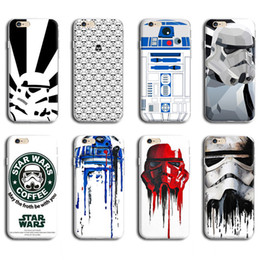 Wholesale Star Mobile Case - STAR WARS CASE FOR IPHONE 6 6S MOBILE PHONE BACK COVER CASE R2D2 STAR WARS COFFEE STORMTROOPERS