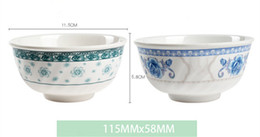 Wholesale Melamine Soup Bowls Wholesale - 4inch floral print beautiful bowls rice meal soup bowl household green eco-friendly durable healthy food container kitchen tableware