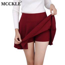 Wholesale Printed Mini Skirts - MCCKLE S-5XL Women's All Fit Tutu School Short Skirt Pants 2017 Summer 6 Colors Mini Saia High Waist Faldas Mujer Short Feminino