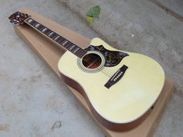 Wholesale Acoustic White - ALL NEW 41-inch cutaway folk guitar wood color J45 Acoustic Guitar