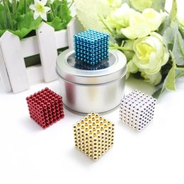 Wholesale Magnetic Beads 4mm - Hot 216pcs 4mm neodymium magnetic balls spheres beads magic cube magnets puzzle birthday present for children