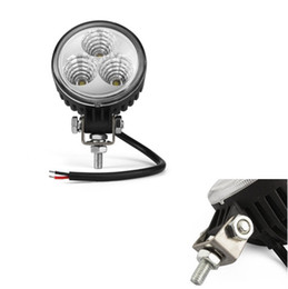 Wholesale 9w Led Work Lamp - 3 LED 9W jeep tructs offroad Working Light Spot lights Car Dome Working Lamp For offroad Car tractor Truck Boat free shippng