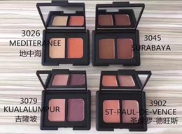 Wholesale Good Quality Makeup Palettes - FREE SHIPPING HOT good quality Lowest Best-Selling good sale MAKEUP Newest MAKEUP 2 colors EYE SHADOW palette + gift
