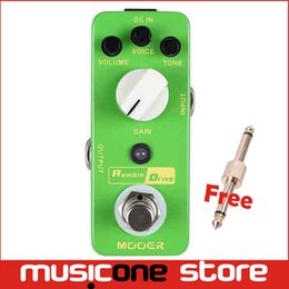Wholesale Smooth Drive - Mooer Rumble Drive Overdrive Pedal Round and smooth overdrive tone Full metal shell True bypass Free shipping MU0349