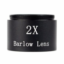 "Wholesale Astronomy Telescopes - Wholesale-New 31.7mm 2X Barlow Lens M28.6*0.6 Thread for Standard 1.25"" Telescope Eyepiece Astronomy W2124A Eshow"