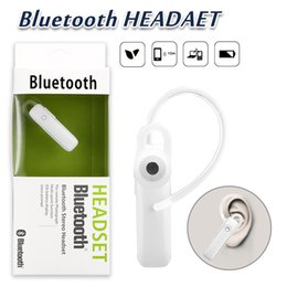 Wholesale bluetooth wireless mobile phone headset - M165 Hot Wireless Stereo Bluetooth Headset Earphone Mini Wireless Bluetooth Hands-free Universal For Mobile Phone With Retail Package