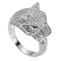 Wholesale Product Channels - 925 sterling silver Shinning Rings White and Green Cubic Zirconia Noble Generous S--3740 sz#6 7 8 9 10 Explosion models The new product