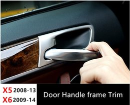 Wholesale Stainless Door Frame - Inner Door Handle frame decoration cover trim 4pcs for BMW X5 E70 X6 E71 2008-14 Stainless Steel Car styling