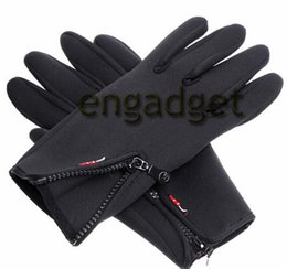 Wholesale Leather Ski Gloves Women - Outdoor Sports Winter Warm Leather Gloves Men Women Cycling Bike Hiking Motorcycle Ski Long Tactical windstopper Gloves 00536