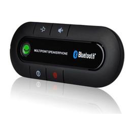 Canada Nouveau véhicule sans fil multipoint sans fil mains libres mains libres téléphone portable Bluetooth mains libres v3.0 kit de voiture noir / bleu / rouge Offre