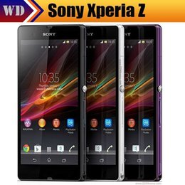 "Wholesale L36h Phone - DHL Original Sony Xperia Z L36h C6603 Cell phone 5.0"" Screen Quad-Core 2G RAM 16GB ROM 13.1MP NFC GPS Unlocked phone Free Shipping"