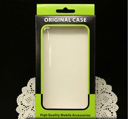 Wholesale cell phones packing paper box - Empty Mobile Cell Phone Case Retail Packaging Package Packing Plastic Crystal Paper Box Boxes For iPhone 6 5S Samsung Galaxy Sony LG HTC One
