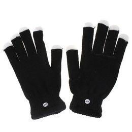 Wholesale Glove Pc - LED Gloves Rave light show fingers Colorful Lighting,glove Raver Blacked Out Gloves RGB LED 7 Colors Light Show Gloves 40 pc 20 pairs
