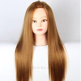 Wholesale Hair Salon Mannequin Heads - 2016 High Quality Hair Mannequin Head Hairdress With Hair Hairdressing Mannequins For Salon Training Manikin Heads Hairstyling