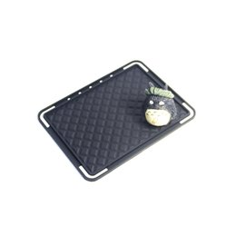 Wholesale Fashion Coasters - Fashion brand beauty C silica gel skid anti-resistance black cup mat luxury office car tea cup designer coaster boutique VIP gift wholesale