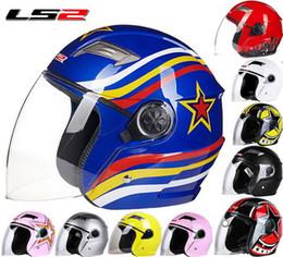 Wholesale Ls2 Winter - 2016 New LS2 Half face motorcycle helmet ABS electric bicycle Motorbike helmets warm winter safety helmets men women OF501