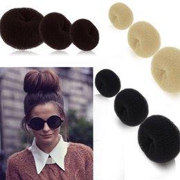 Wholesale Hair Updo Buns - Novelty Updo Styling Doughnut Bun Ring Shaper Women Kids Girls Hair Styling Tool